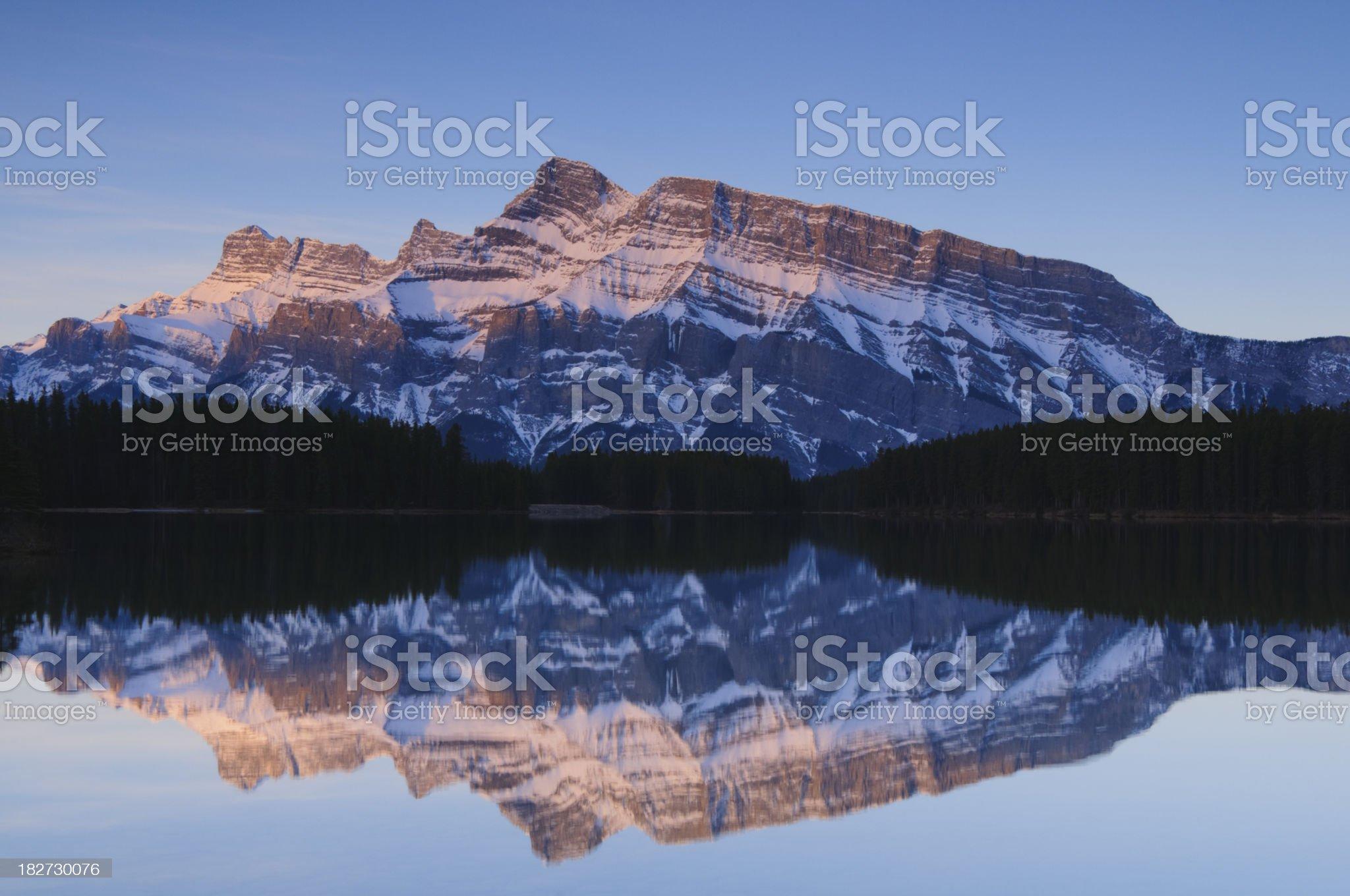 Mountain reflection, Banff National Park royalty-free stock photo