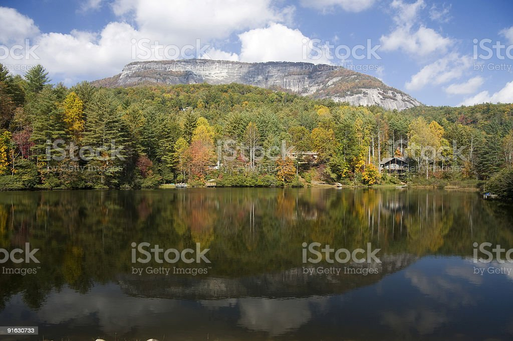 Mountain Reflection in a Lake royalty-free stock photo