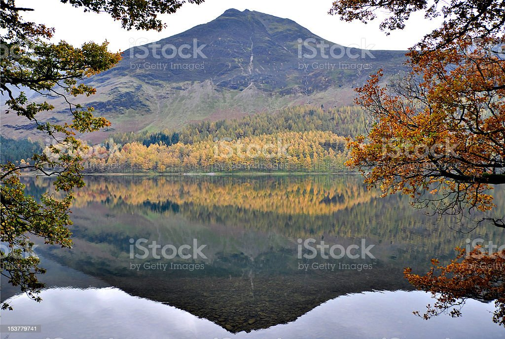 Mountain Reflection in Lake District - Cumbria royalty-free stock photo