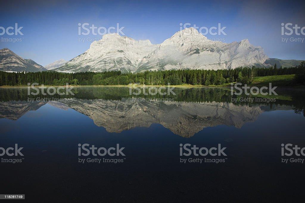 Mountain Reflection in Mirror Lake stock photo