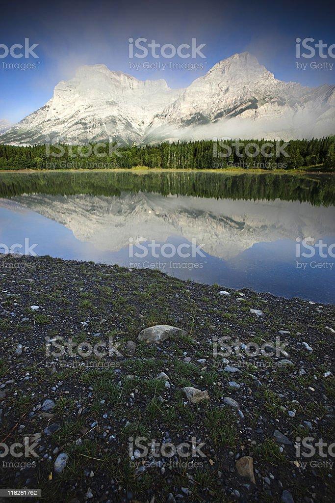 Mountain Reflection in Mirror Lake royalty-free stock photo
