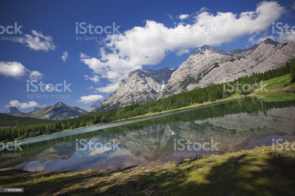 Mountain Reflection in Mirror Lake royalty-free stock photo