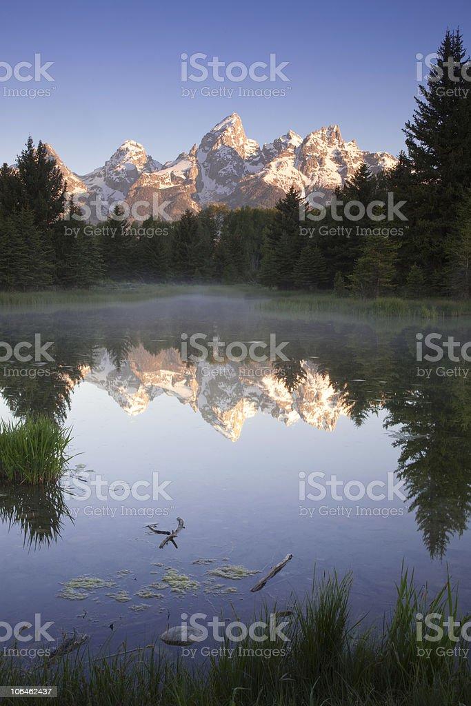 Mountain Reflections stock photo