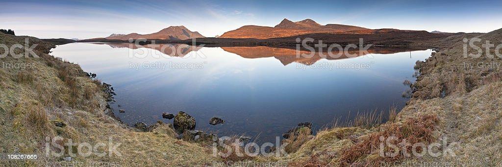 XXXL Mountain reflections stock photo