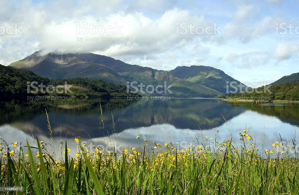 Mountain reflections royalty-free stock photo