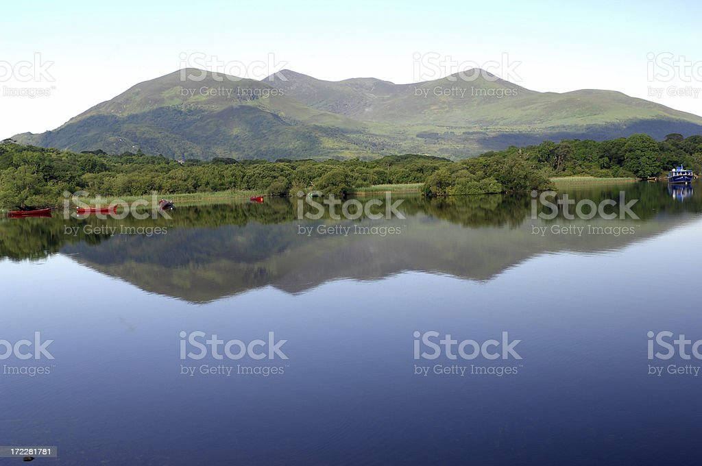 Mountain reflections stock photo