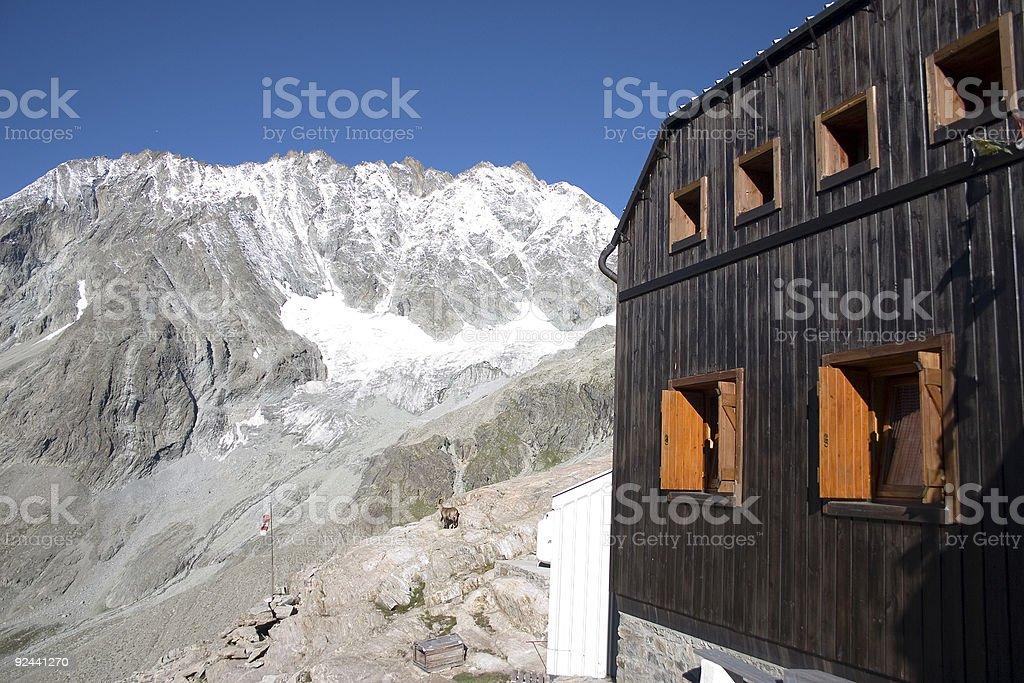 Mountain refuge Nacamuli (Italy) royalty-free stock photo
