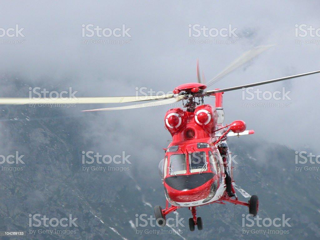 Mountain rescue royalty-free stock photo