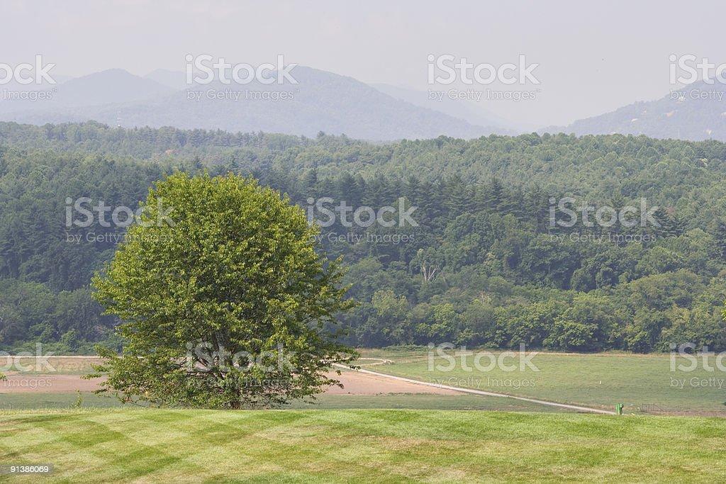 Mountain resort stock photo