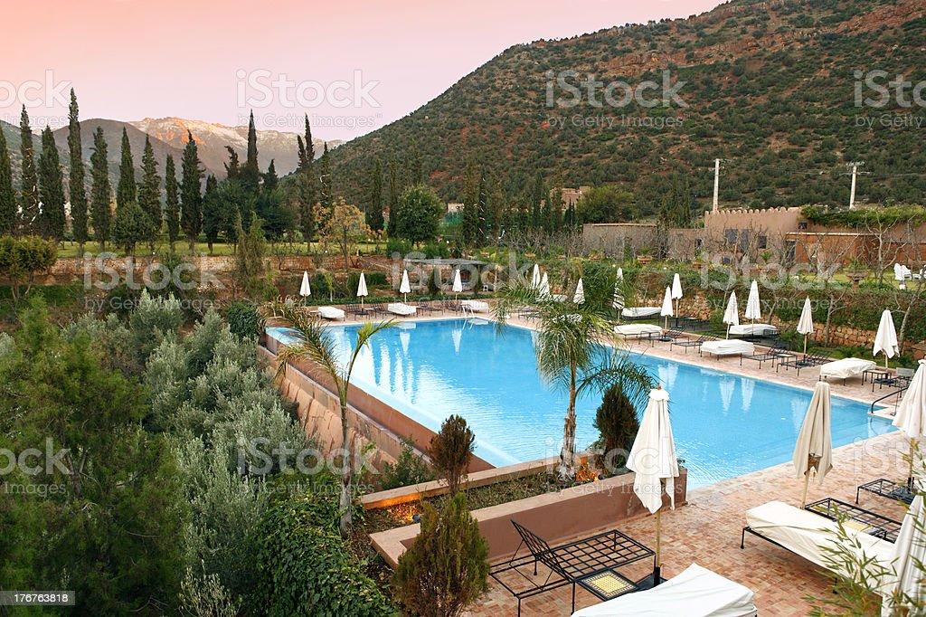 Mountain Resort Pool stock photo