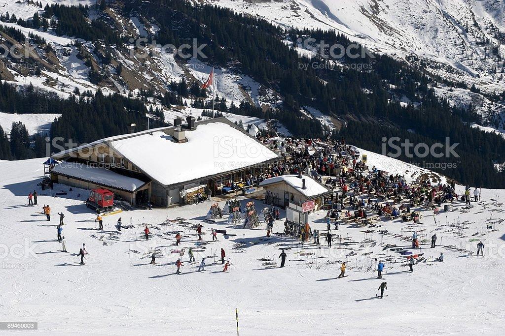 Mountain restaurant. royalty-free stock photo