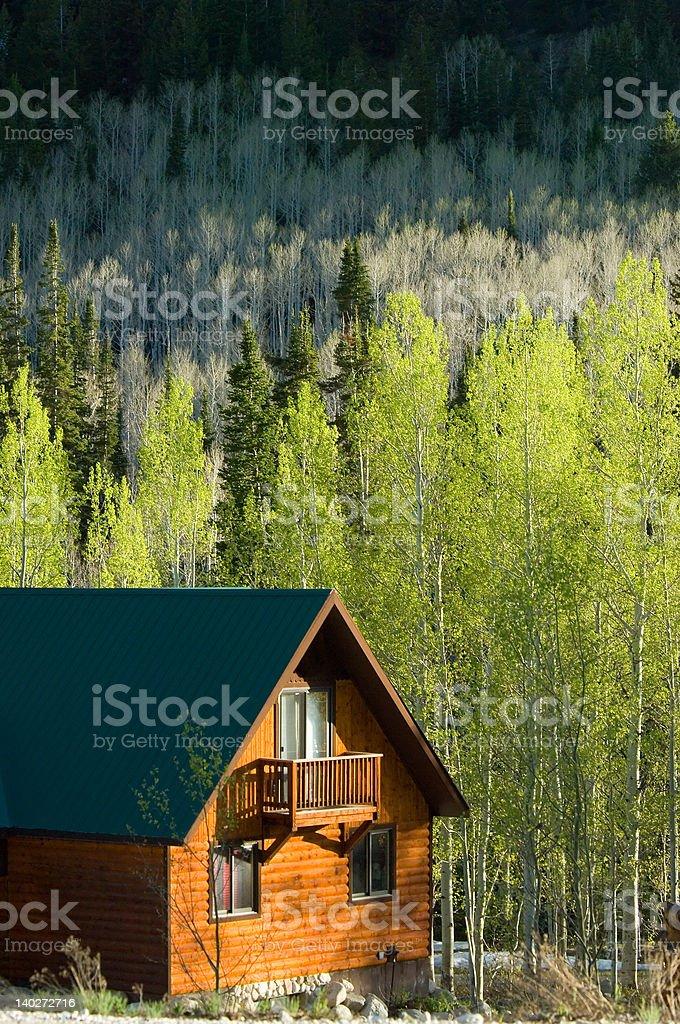 Mountain retreat stock photo