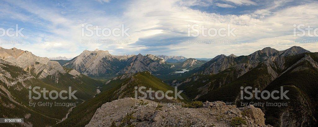Mountain Ridge Panorama stock photo