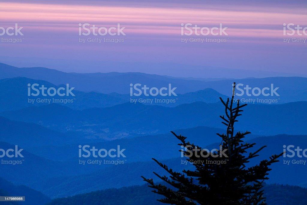 Mountain Ridges at Sunset royalty-free stock photo