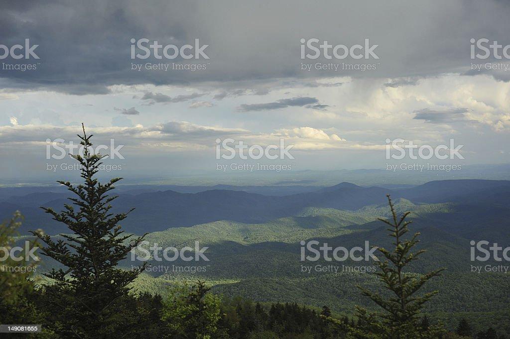 mountain ridges near the Blue Ridge Parkway royalty-free stock photo