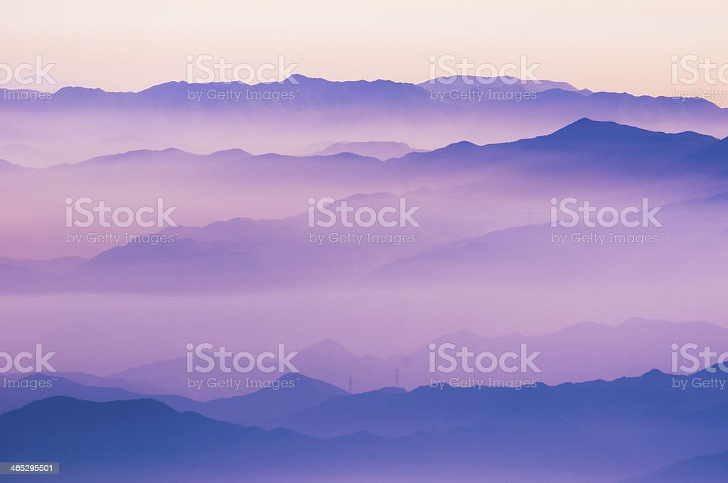 mountain ridges royalty-free stock photo