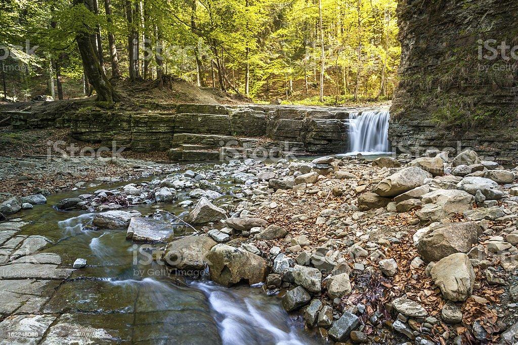 Mountain river among stones stock photo