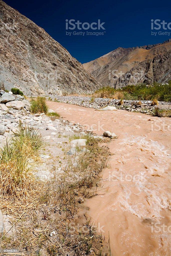 Mountain River, Chile stock photo