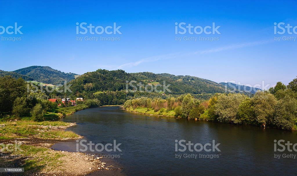 Mountain River in summer stock photo