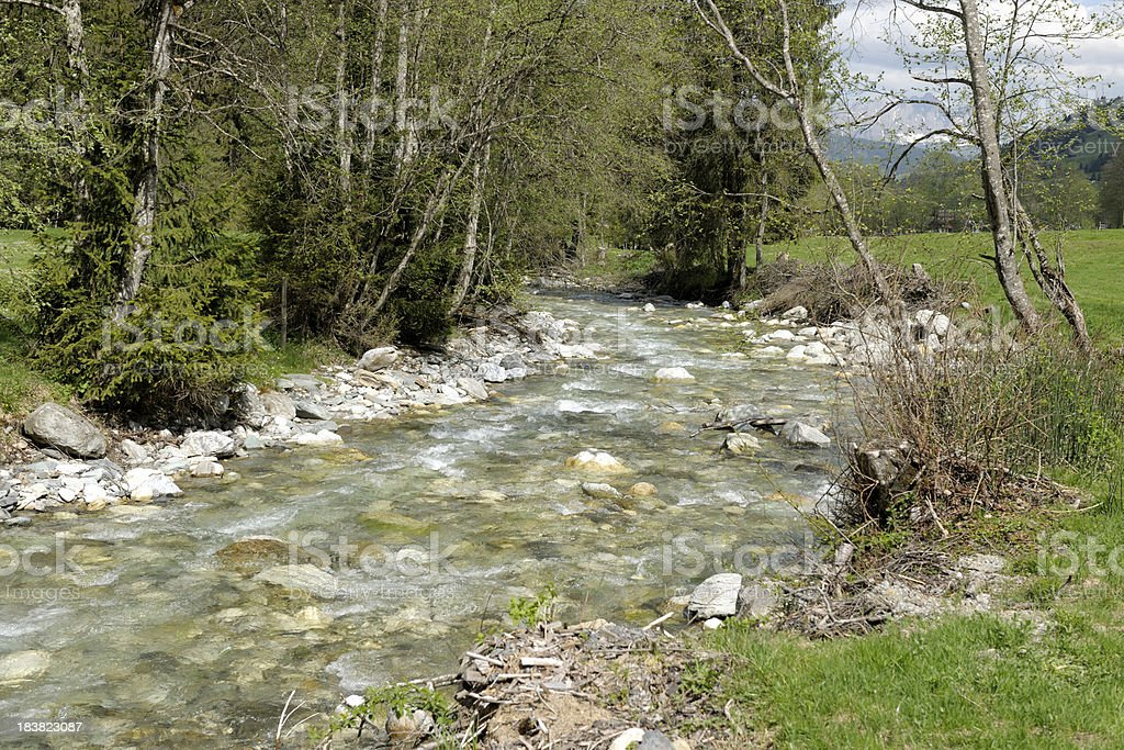 Mountain river stock photo