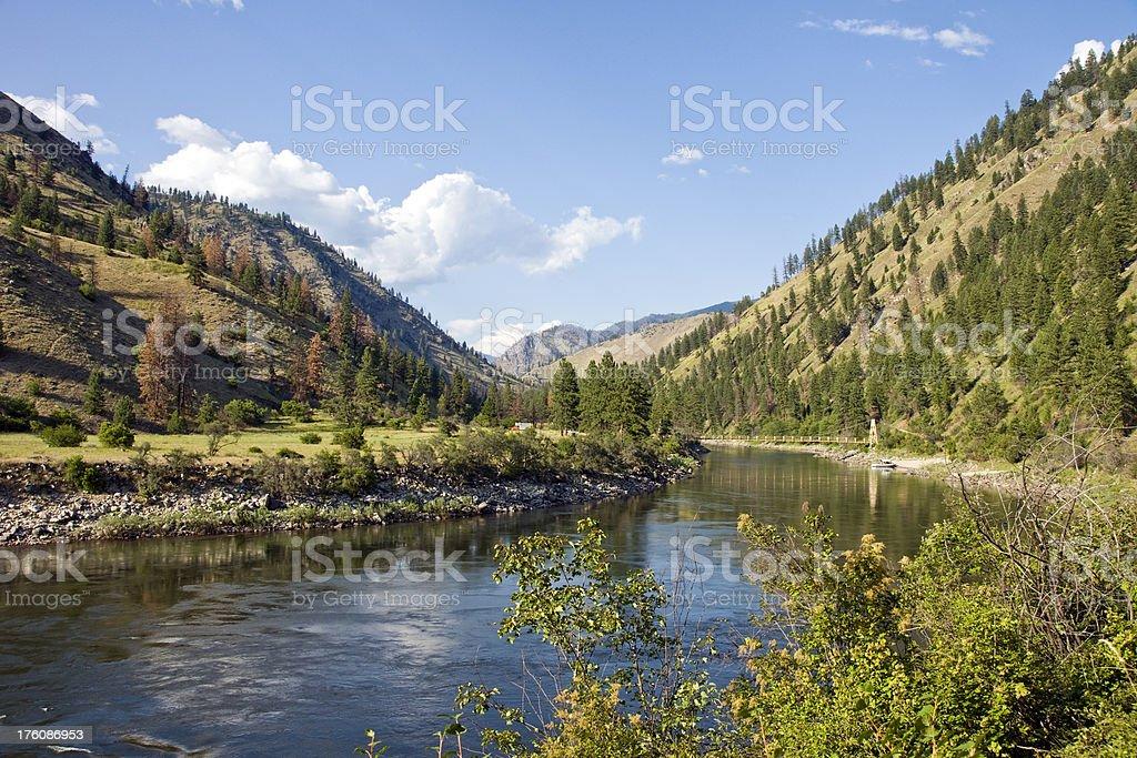 Mountain River Valley royalty-free stock photo
