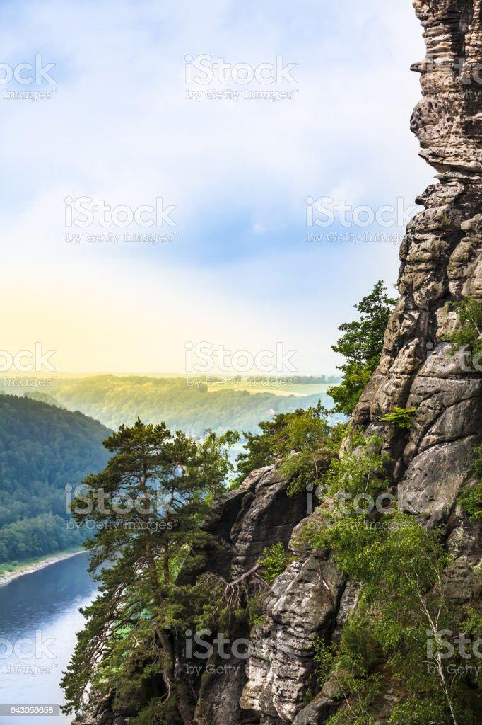 Mountain River Valley stock photo