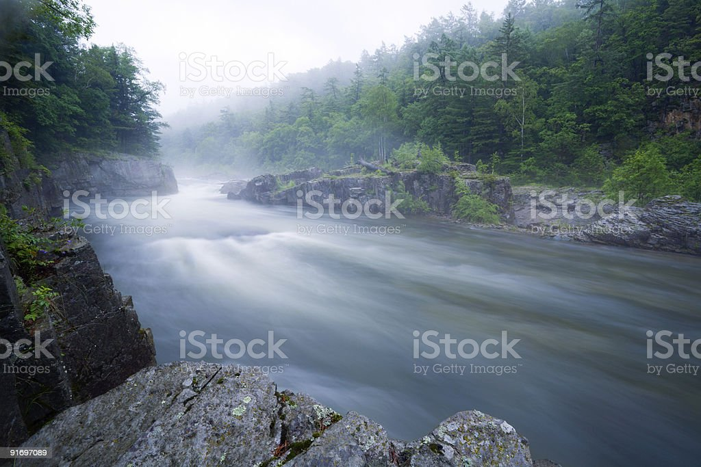 mountain river.evening royalty-free stock photo