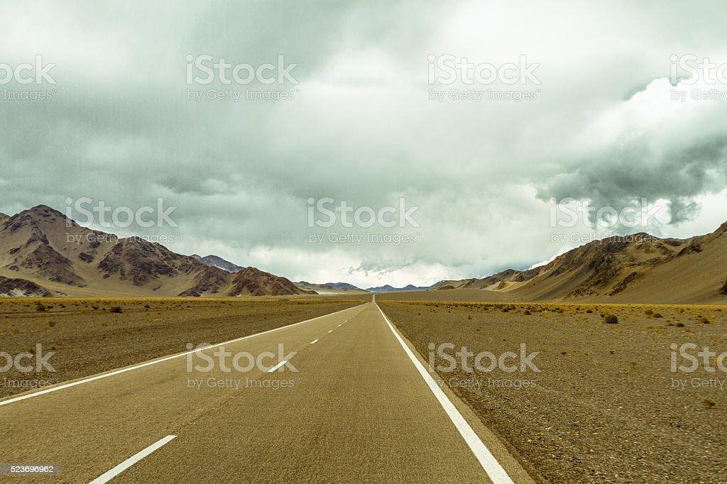 Mountain road 2 stock photo
