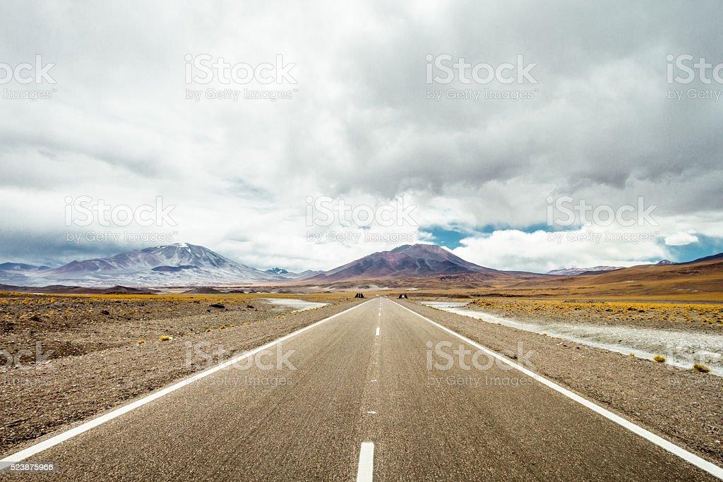 Mountain road 5 stock photo