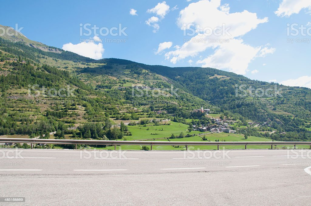 Mountain Road in Italy royalty-free stock photo