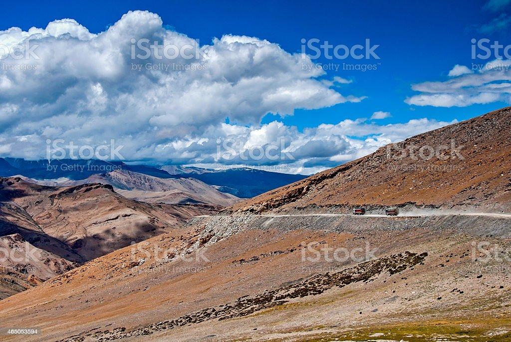 Mountain road in Ladakh stock photo