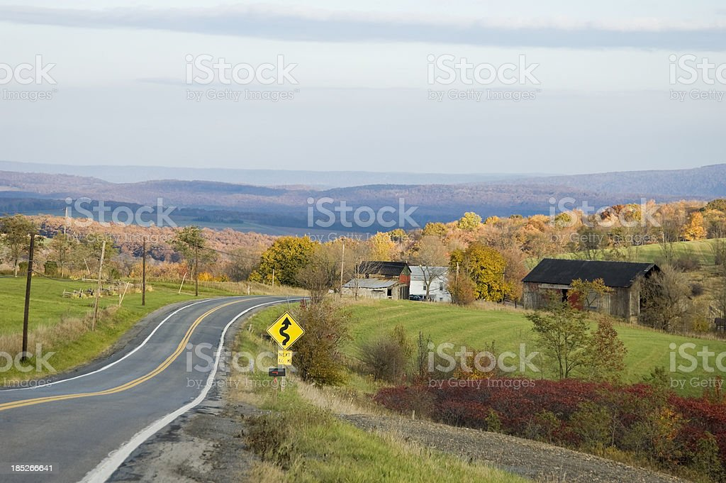 Mountain Road In Pennsylvania, Old Lincoln Highway stock photo