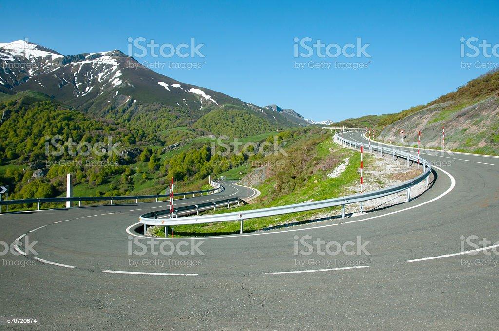 Mountain Road - Picos de Europa - Spain stock photo