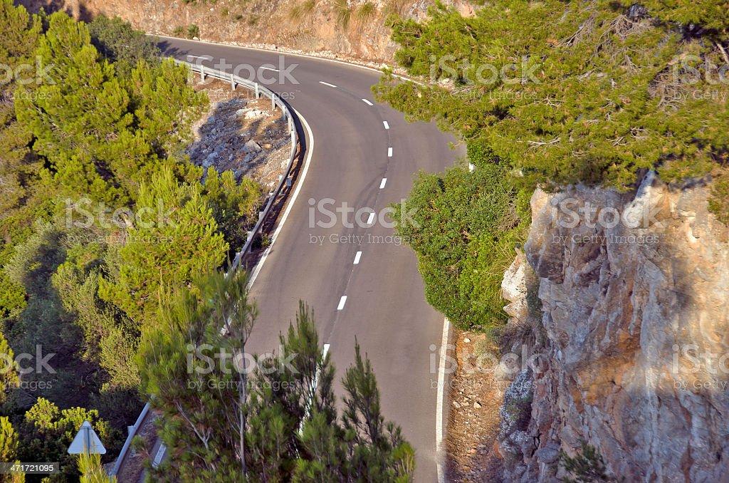 Mountain route de photo libre de droits