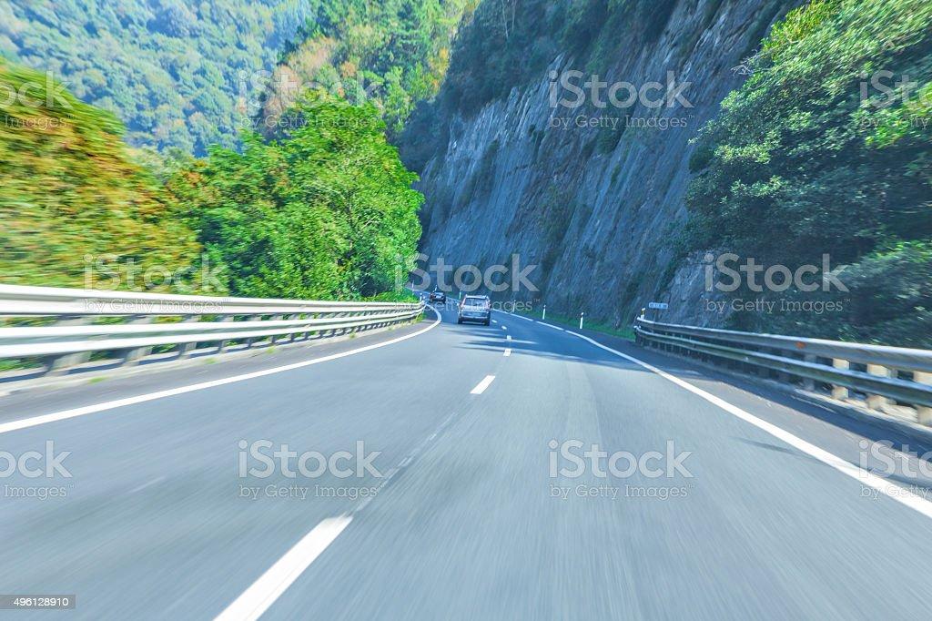 Mountain road. stock photo