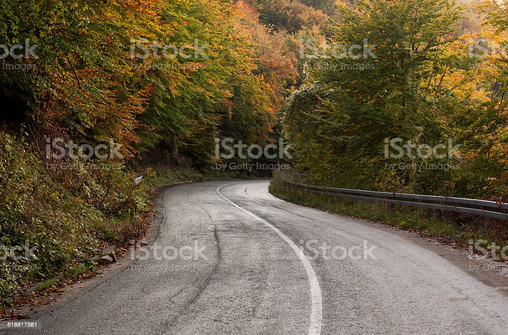 Ruta de montaña foto de stock libre de derechos