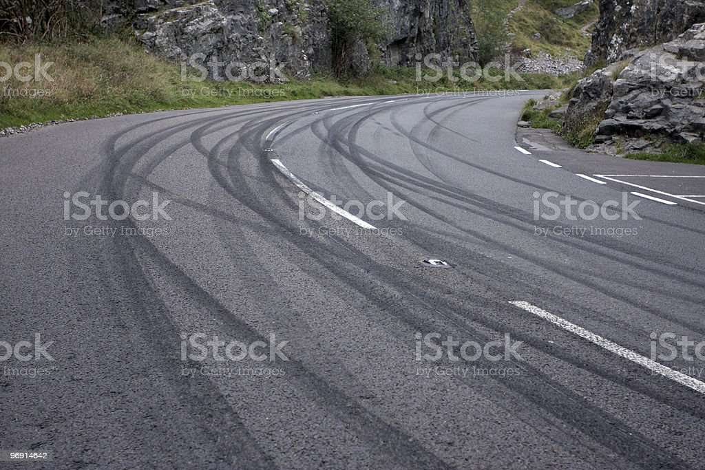 Mountain road racing stock photo
