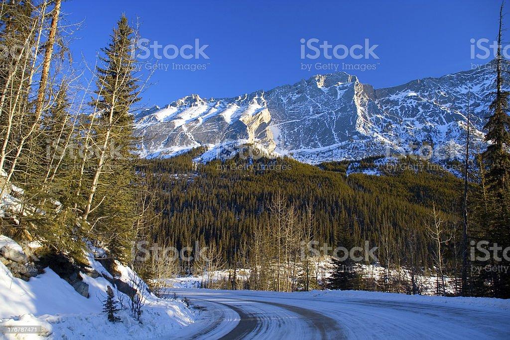 Mountain Road Scene royalty-free stock photo