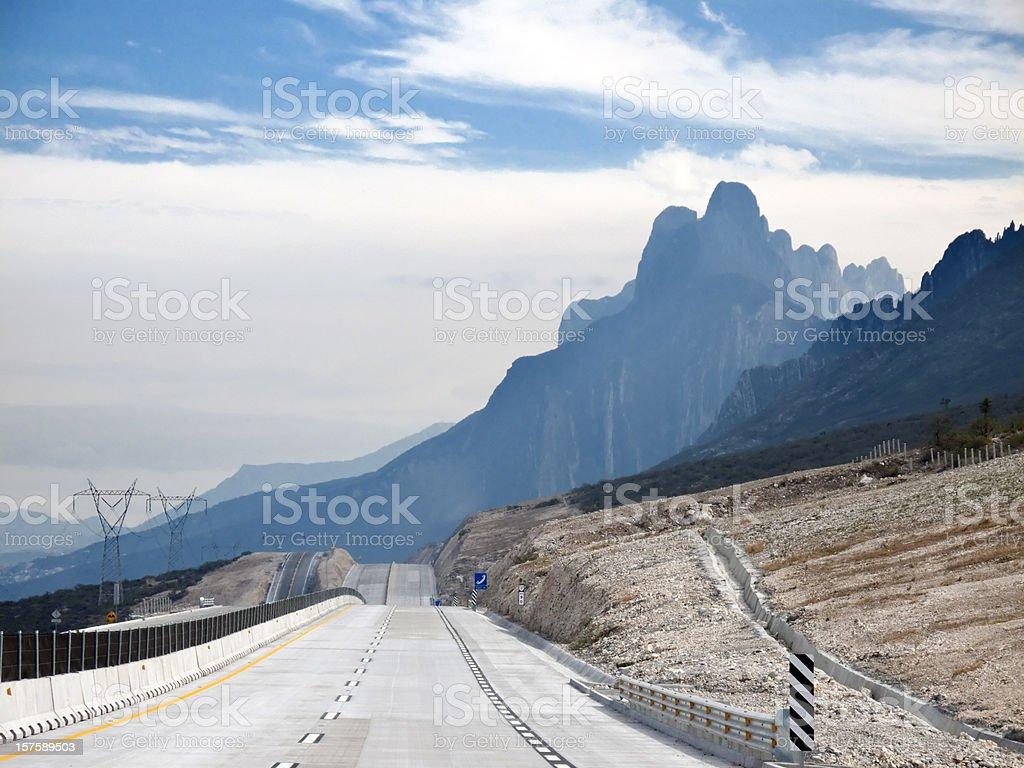 Mountain Road Sierra Madre Oriental Mexico stock photo