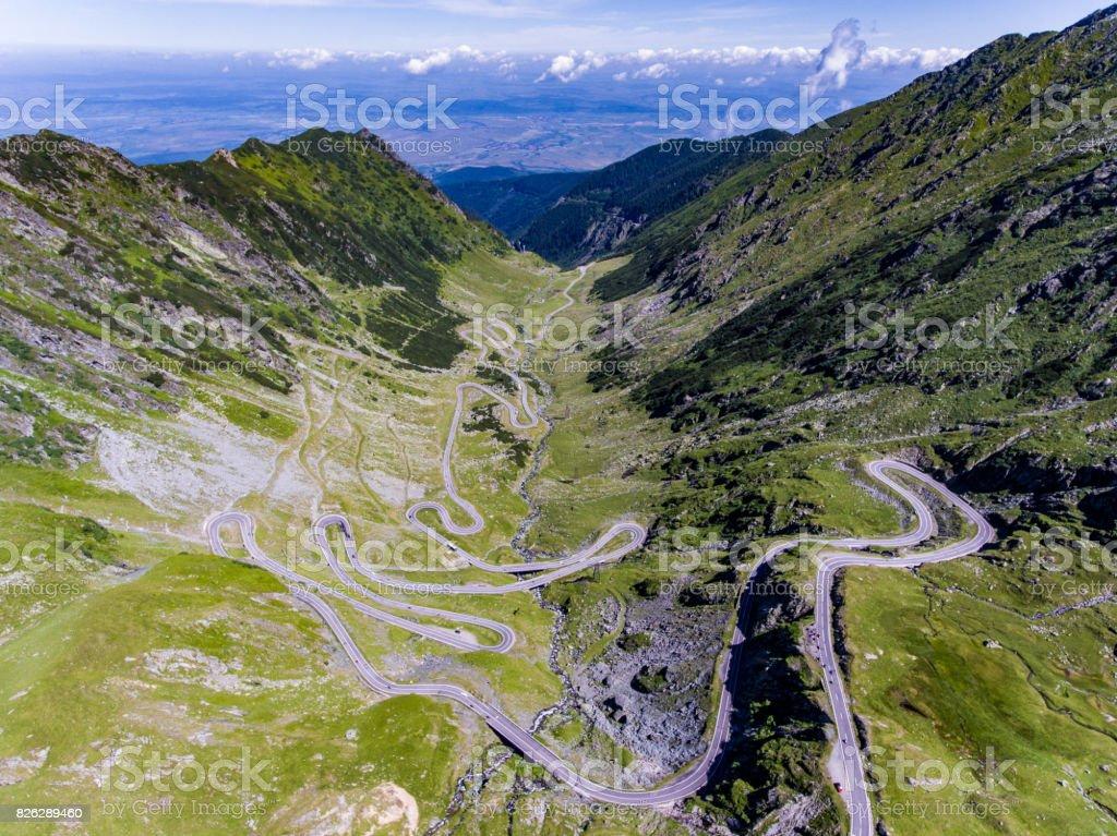 Mountain Road Transfagarasan in the Carpathian Mountains Transylvania Romania stock photo