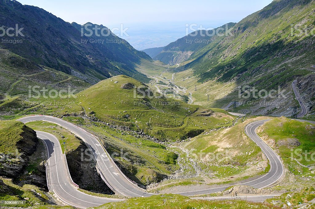 Mountain road, Transfagarasan stock photo