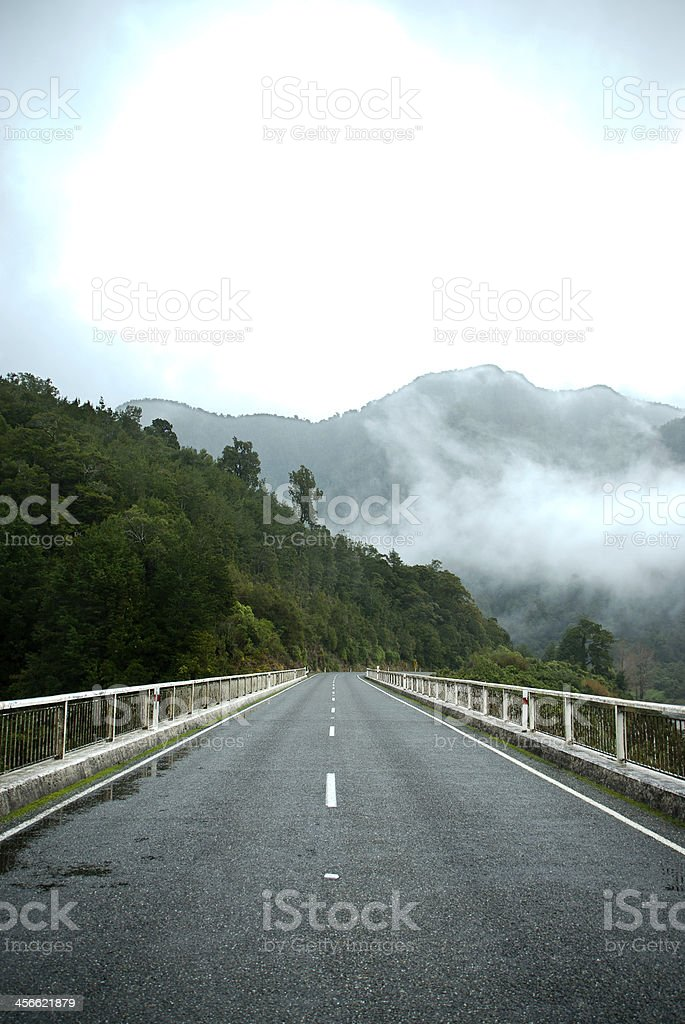 Mountain Roadside stock photo