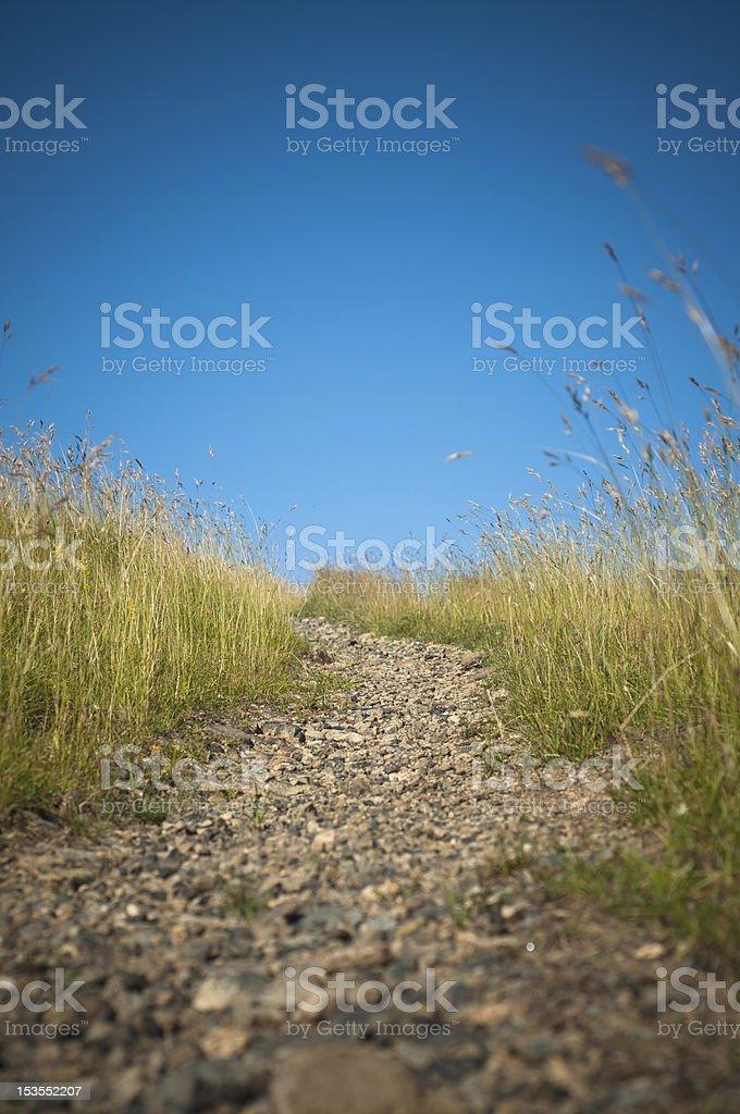 Mountain rocky road royalty-free stock photo