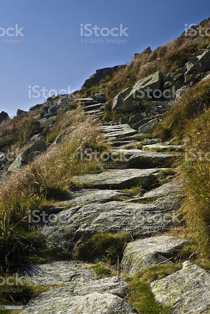 Mountain route royalty-free stock photo