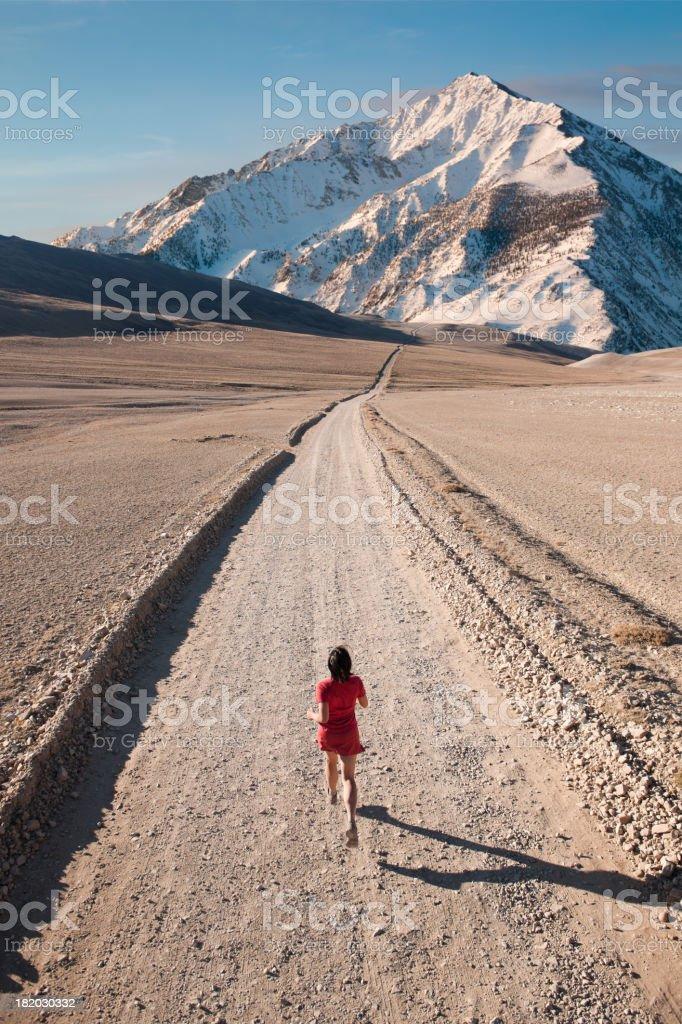 Mountain Runner stock photo