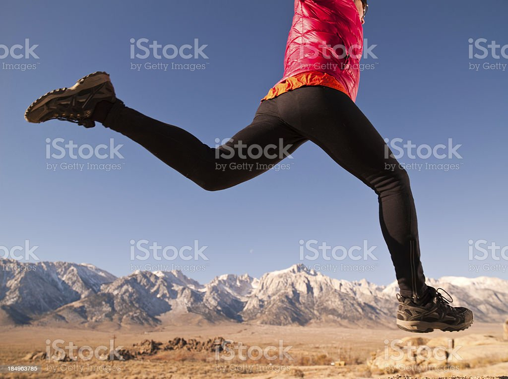 Mountain Runner royalty-free stock photo