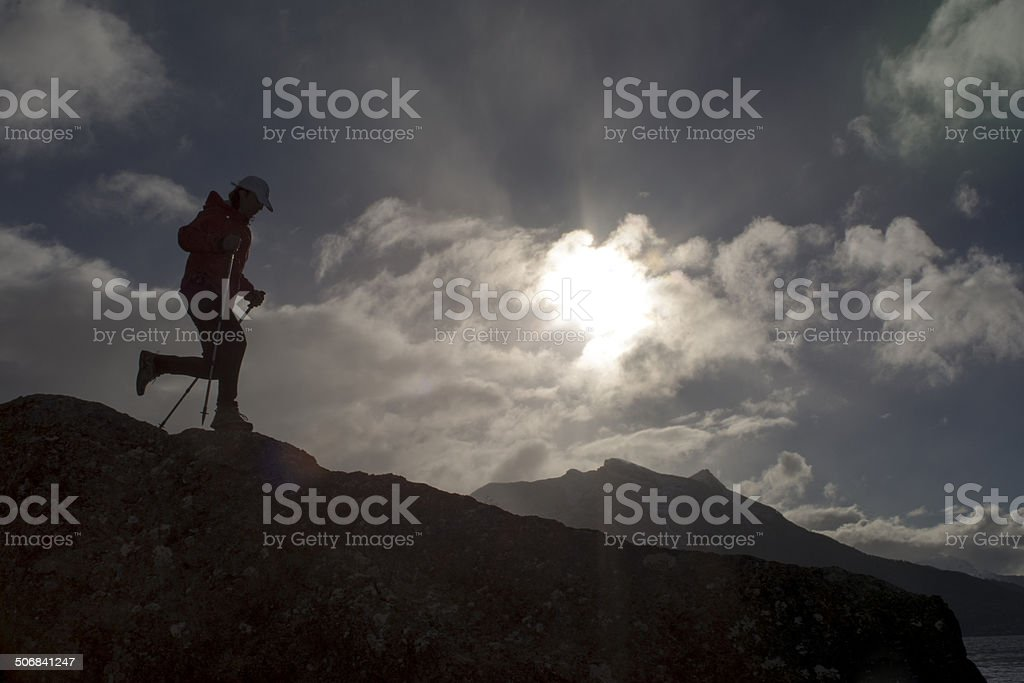 Mountain Running royalty-free stock photo