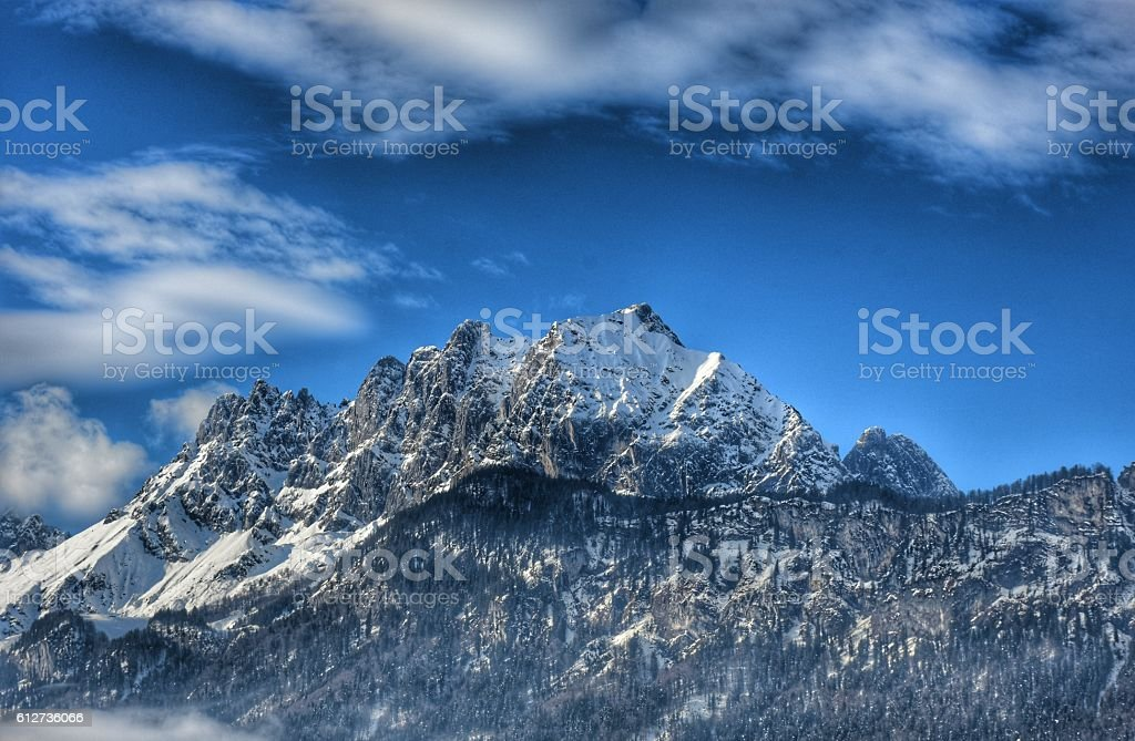 Mountain Sankt Johann stock photo