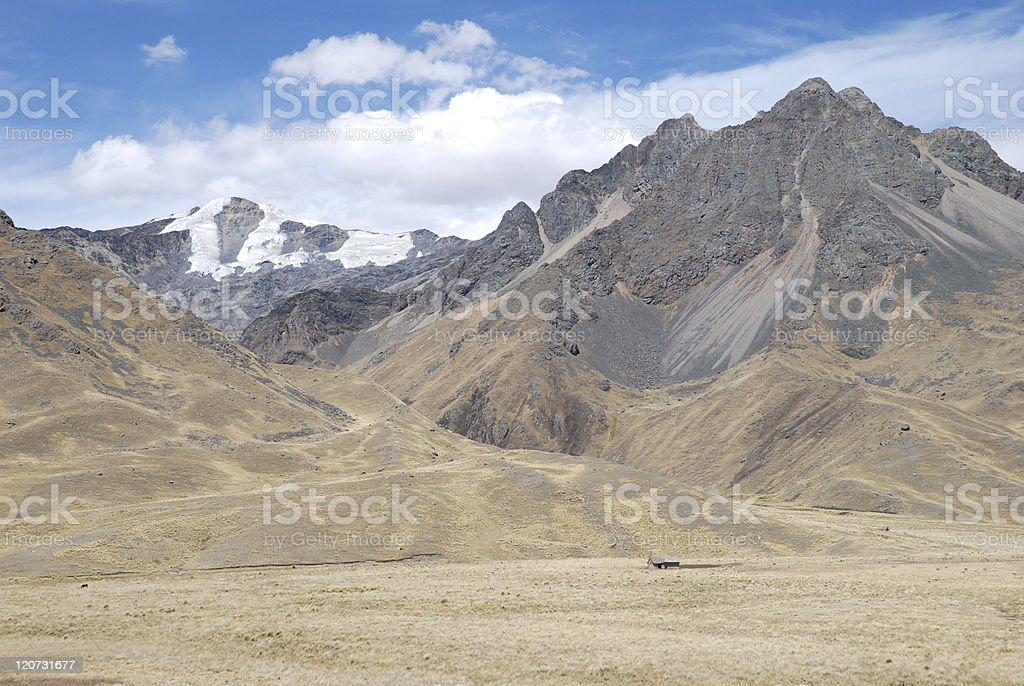 Mountain Scene in Peru royalty-free stock photo