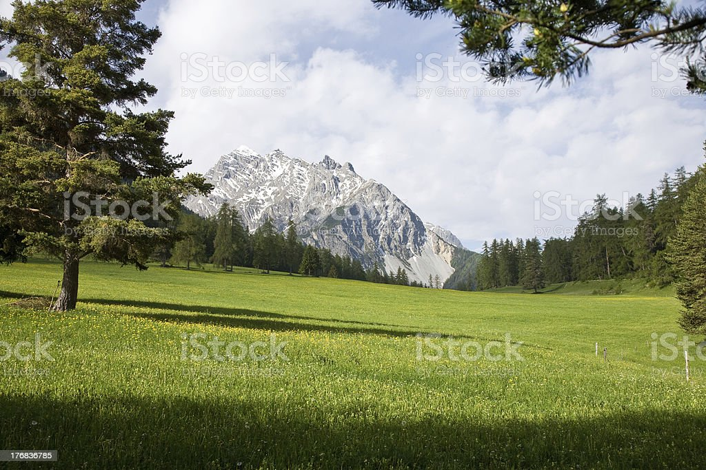 mountain scene stock photo